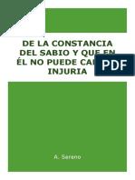 De La Constancia Del Sabio - Séneca (RESUMIDO)