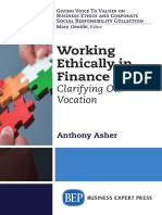 Working Ethically in Finance - Clarifying Our Vocation