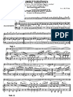 Beethoven Mozart Variations Score