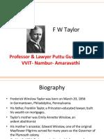 F W Taylor 1
