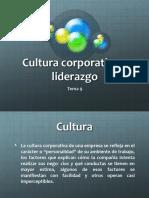 Tema 9 Cultura Corporativa y Liderazgo