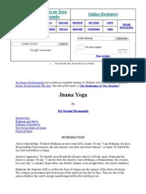 Jnana Yoga Atman Hinduism Brahman