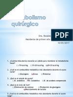 Metabolismo quirúrgico R1CG