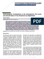 Anthropogenic Contributions to the Atmospheric CO2 Levels and Annual Share of CO2 Emissions by Afghanistan