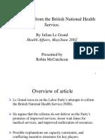 British National Health System