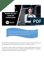 Como Aplicar El Marketing Gastronomico Al Diseño de Una Carta de Restaurante