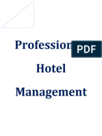Profession in Hotel Management