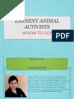 Animal activists PPT