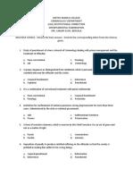 Departmental Exam