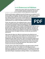 Challenges to Democracy in Pakistan Essay.docx