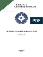 Protectia informațiilor clasificate - ghid