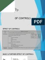 Basic Effect of Controls