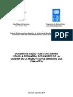 Dossier Technique Formation DMF PNUD