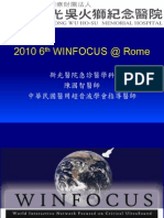 2010 6th WINFOCUS @ Rome Report