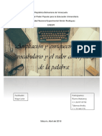 Ampliación y enriquecimiento del vocabulario y el valor conceptual de la palabra
