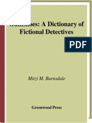A Dictionary Of Fictional Detectives Pdf Detective Fiction The Moonstone