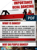THE  IMPORTANCE OF SOCIAL DANCING