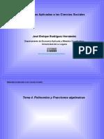 Tema 4. Polinomios y Fracciones Algebraicas
