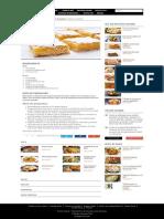 Batoane Cu Lămâie - Retete Culinare - Romanesti Si Din Bucataria Internationala