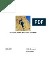 Accidente Posibile in Escalada Si Alpinism