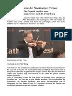 Geheimnisse Der Stradivarius Geigen