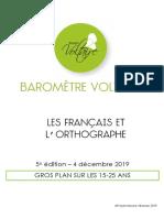 Barometre Voltaire 2019