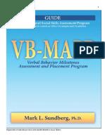 VB-MAPP Nivel 1 e 2