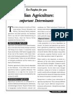 Indian Agri Determinants