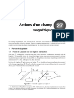 Actions d Un Champ Magnetique