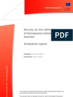 Survey on the Attitudes of Europeans Towards Tourism