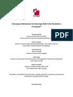 A European Mechanism for Sovereign Debt Crisis Resolution