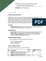 Course Description File PHY123 Sample