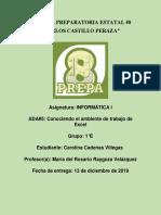Ambiente Excel Carolina Cadenas