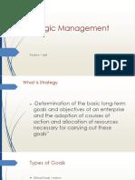 Lecture 5 Strategic Management