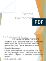 Lecture 6 External Environment