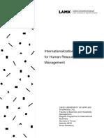 Internationalization Strategies for Human Resource Management