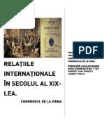 RELAȚIILE INTERNAȚIONALE ÎN SECOLUL XIX-Actul Final Al Congresului de La Viena-9 IUNIE 1815-traducere Integrală