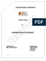 Fragmentation of Database Term Paper
