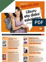 Liburu eta disko eskaintza 2010eko katalogoa
