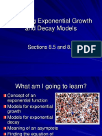 8.5-8.6 Exponential Growth and Decay Models