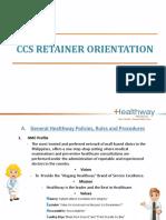 CCS Retainer Orientation