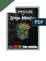Livret du procès de Drago Malefoy à Strasbourg