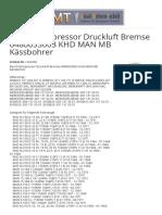 Bosch Kompressor Druckluft Bremse 0480033003 KHD MAN MB Kässbohrer