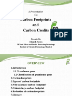 Carbon footprints and carbon credits by munish