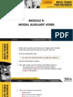 Module 9 Grammar - Modal Auxiliary Verbs