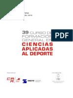 39 Curso Ciencias Aplicadas Deporte Solidaridad Olimpica