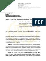 Escrito Declarando La Prescricpcoin de La Accion Penal