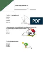 EXAMEN DE MATEMATICAS 10