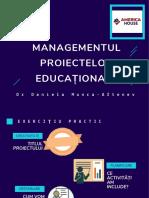 Managementul Proiectelor Educaționale