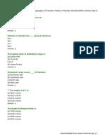 Geography of Pakistan MCQs _ Pakistan Studies_Affairs Notes (Set-I)